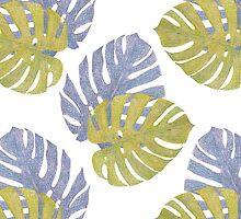Monstera Leaves Pattern by Lunta