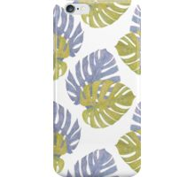 Monstera Leaves Pattern iPhone Case/Skin
