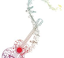 Guitar and Music Notes 10 by AnnArtshock