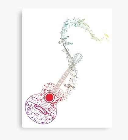 Guitar and Music Notes 10 Canvas Print