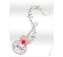 Guitar and Music Notes 10 Poster