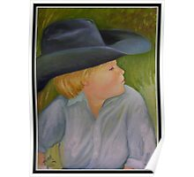 Young Cowboy With A Big Hat Poster