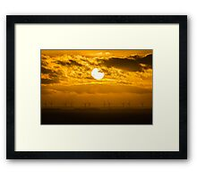 Bridlington Wind Farm Framed Print
