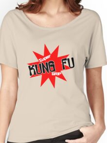 Now with super kung fu grip baby bodysuit geek funny nerd Women's Relaxed Fit T-Shirt