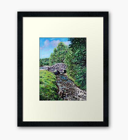 'The Bridge at Bass Lake' Framed Print