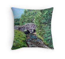 'The Bridge at Bass Lake' Throw Pillow