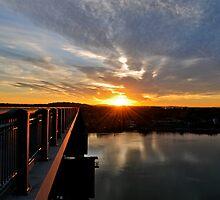 Sunrise over the Hudson River by Nancy Rohrig