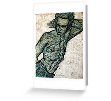 Standing Male Figure Greeting Card
