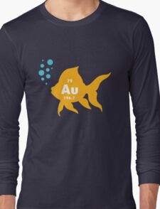 Periodic table elemental gold fish geek funny nerd Long Sleeve T-Shirt