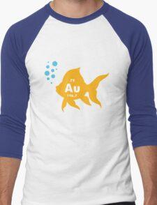 Periodic table elemental gold fish geek funny nerd Men's Baseball ¾ T-Shirt