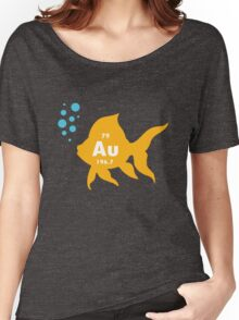 Periodic table elemental gold fish geek funny nerd Women's Relaxed Fit T-Shirt