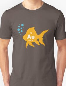 Periodic table elemental gold fish geek funny nerd Unisex T-Shirt