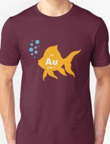 Periodic table elemental gold fish geek funny nerd T-Shirt