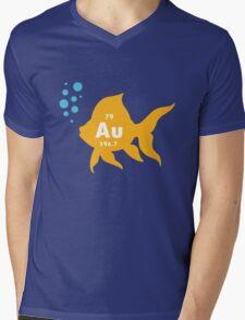 Periodic table elemental gold fish geek funny nerd Mens V-Neck T-Shirt