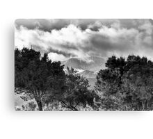 CLOUDY DAY - BW Canvas Print