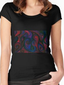 Red and Blue Eyes Women's Fitted Scoop T-Shirt
