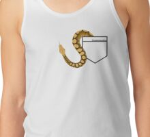 Reticulated Python in Pocket Teeshirt. Light Design Tank Top
