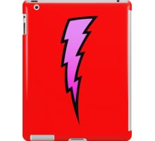 Purple lightning bolt geek funny nerd iPad Case/Skin