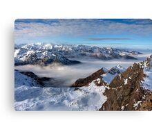 Winter on Kitzsteinhorn 72 Canvas Print