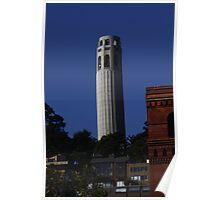 Coit Tower from the Embarcadero Poster