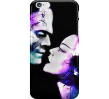 Dark Love Purple/Teal iPhone Case/Skin