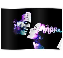 Dark Love Purple/Teal Poster