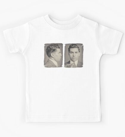 Lucky Luciano Mug Shots Front and Profile Kids Tee