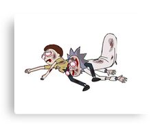 Rick and Morty Dead Canvas Print