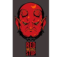 Red Means Stop. Photographic Print