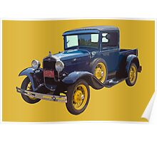1930 Model A Ford Pickup Truck Poster