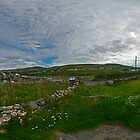 Glencolmcille Church - Panoramic (Viewed large - to see church) by George Row