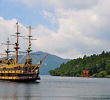 Lake Ashi, Japan by Hilm3r -