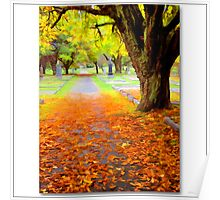 A fallen leaf is nothing more than a summers wave good bye Poster