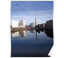 Liverpool Docks mirror landscape Poster