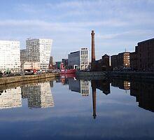 Liverpool Docks mirror landscape by andreiadixon