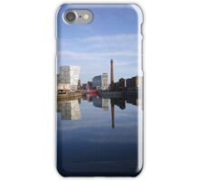 Liverpool Docks mirror landscape iPhone Case/Skin