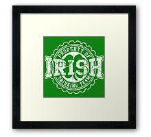Irish Drinking Team Bottle Cap Framed Print