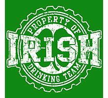 Irish Drinking Team Bottle Cap Photographic Print
