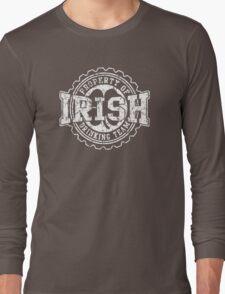 Irish Drinking Team Bottle Cap Long Sleeve T-Shirt