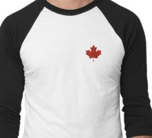 The Great White North: Maple Leaf Men's Baseball ¾ T-Shirt