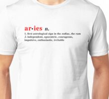 Zodiac Definitions: Aries Unisex T-Shirt