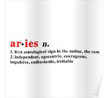 Zodiac Definitions: Aries Poster