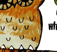 Who Me? Owl Sticker