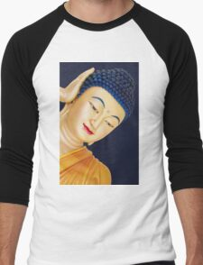 buddha face Men's Baseball ¾ T-Shirt