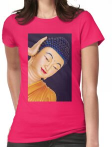 buddha face Womens Fitted T-Shirt