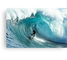 James Hollmer Cross on a monster at Shipstern Bluff Canvas Print