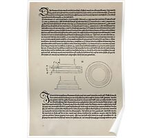 Measurement With Compass Line Leveling Albrecht Dürer or Durer 1525 0094 Repeating Shapes Poster