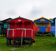 Beach Huts, Tankerton,UK by Pauline Tims