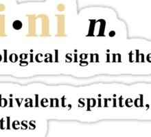 Zodiac Definitions: Gemini Sticker