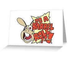 """Starfox - Peppy """"Do a Barrel Roll!"""" Greeting Card"""